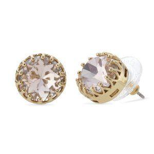 Stella & Dot Gold & Silver Stud Earrings